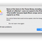 Apple Musicの楽曲はiPod nano、shuffleに転送できない