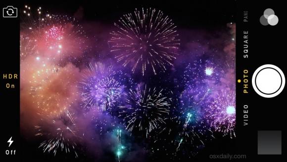 iPhoneで花火の写真をきれいに撮る