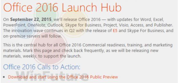 Office2016 発売日