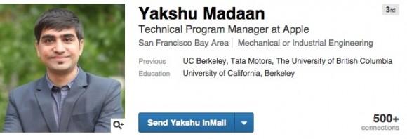 Yakshu Madaan氏