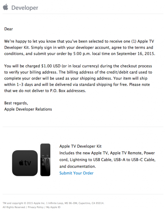 新型Apple TV
