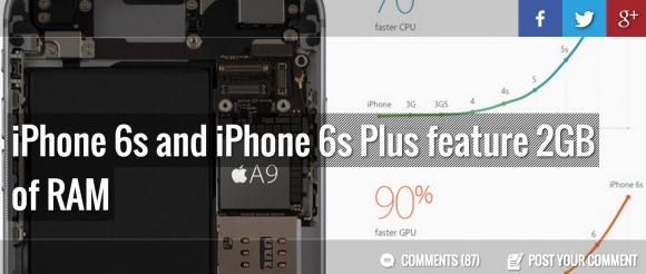 iPhone 6s RAM