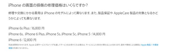 iPhone-6s修理価格