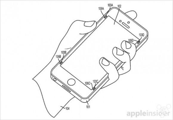 Apple 特許 落下 ディスプレイ iphone