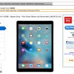 iPad Proの予約受付を行うMacMallのウェブ画面のキャプチャ
