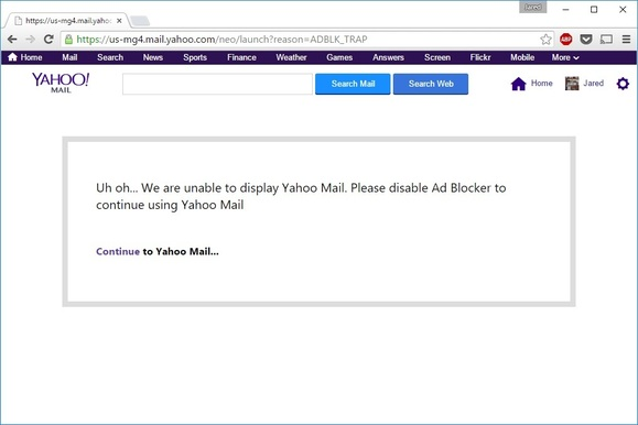 Yahoo-mail-block