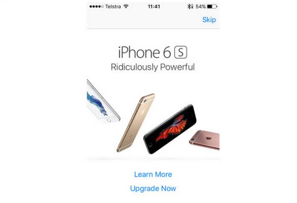 iphone6s ポップアップ広告