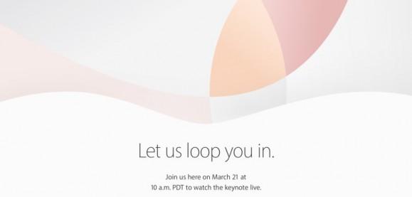Apple 3/21 招待状