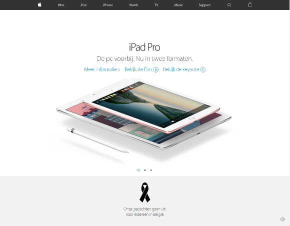 Apple ベルギー オランダ語 喪章
