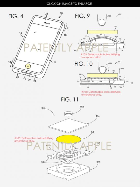 リキッドメタル ホームボタン 特許