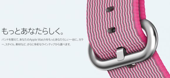 Apple Watch ウーブンナイロン 手入れ