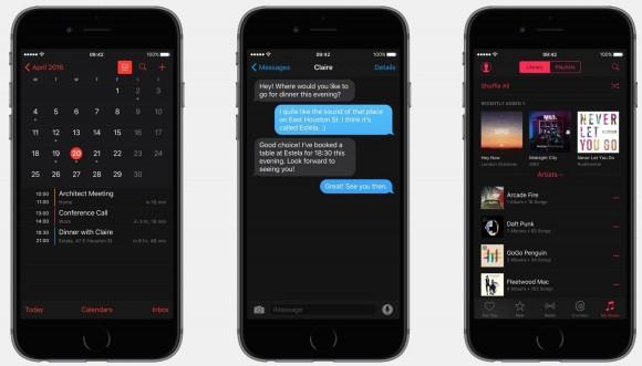 iOS10 darkmode