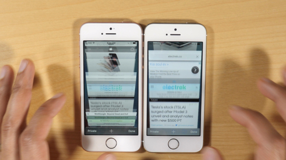 iPhone SE iPhone5s 動作 比較