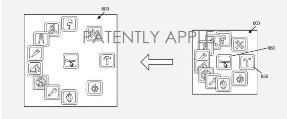 Apple アイコン円形配置 特許