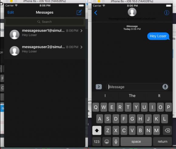 ダークモード ios10 メッセージアプリ