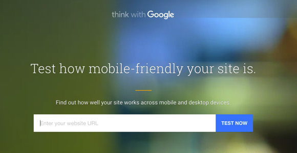 Google Test how mobile-friendly your site is