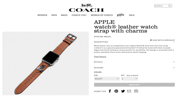 COACH Apple Watch バンド