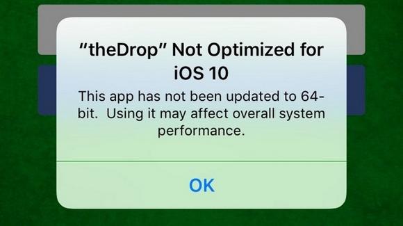 iOS10 64ビット 非対応 警告