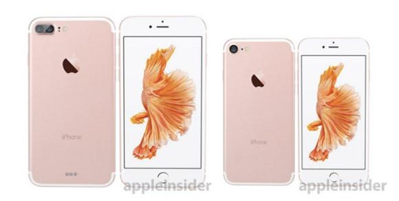 「iPhone7」と「iPhone7 Plus」