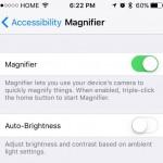 magnifier 拡大鏡 ios10 カメラ