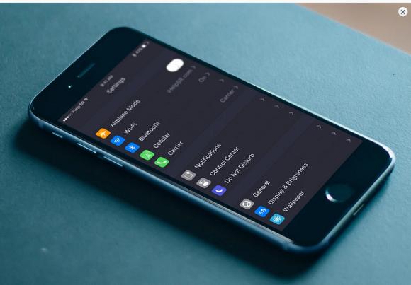 iOS10 ダークモード