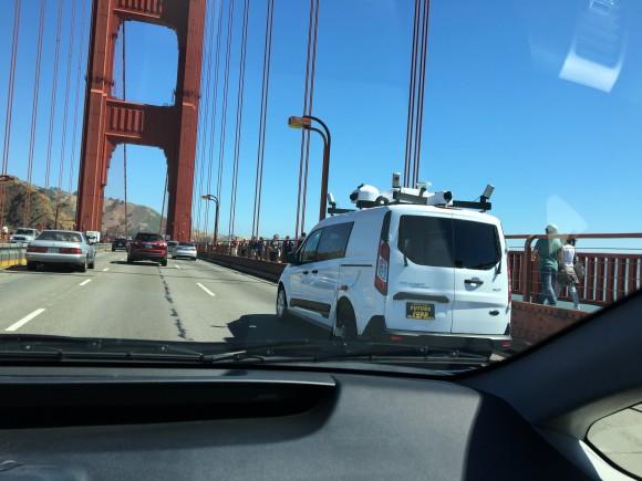 apple マッピング 車 自動運転車