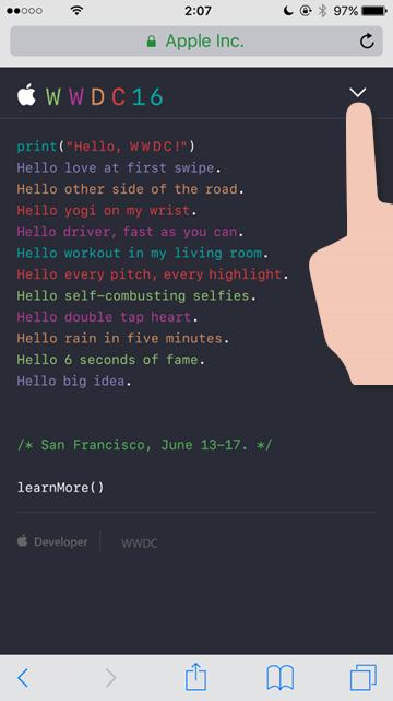 WWDCの情報をSiriにねだってみた