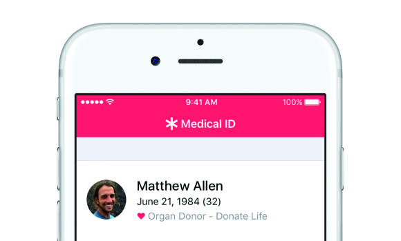 iOS10 ヘルスケア ドナー登録 アプリ