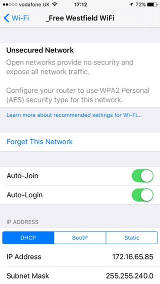 iOS10 Wi-Fi 警告