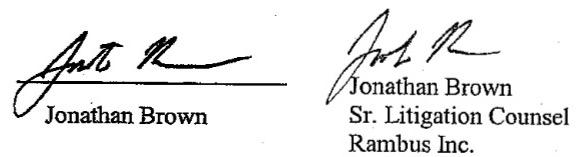 ジョナサン・ブラウン 署名