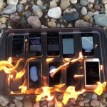 iPhone 耐火 実験 テスト