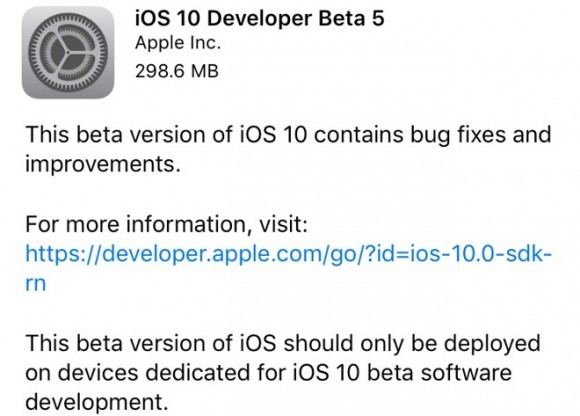 iOS10 beta5