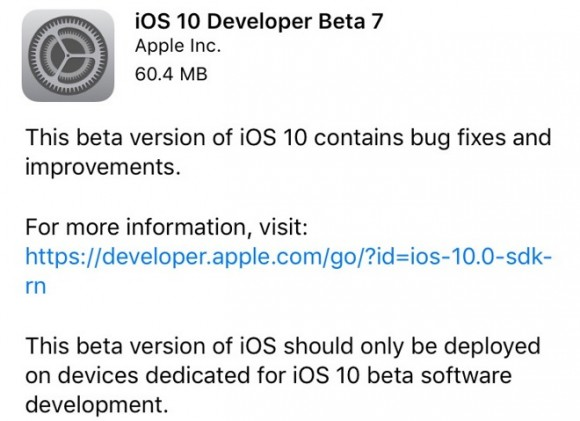 iOS10 beta7