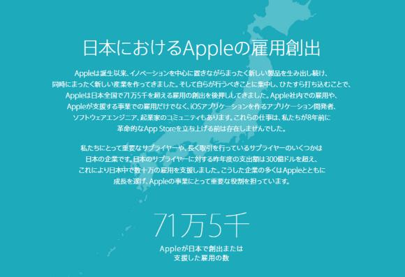 Apple 雇用創出