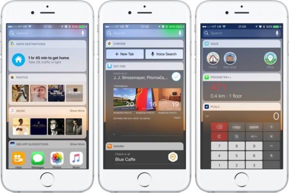 iOS beta 5 widget