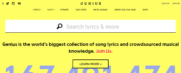 「Genius Lyric Messages」