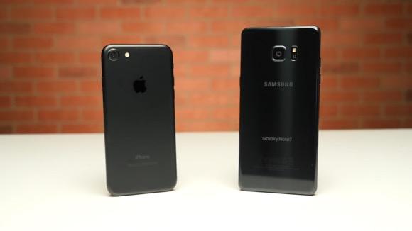 iPhone7 Galaxy Note7 対決