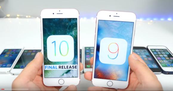 iOS10 iOS9.3.5 速度 比較