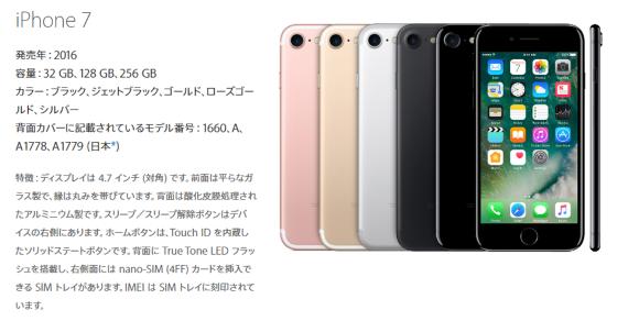 iPhone7 モデル