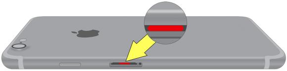 液体浸入インジケータ iPhone7