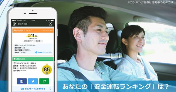 Yahoo!カーナビ 安全運転ランキング