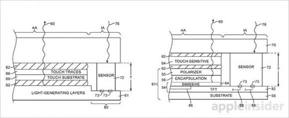 iphone 特許 センサー