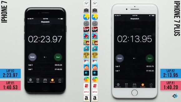 iPhone7とiPhone7 Plus 対決