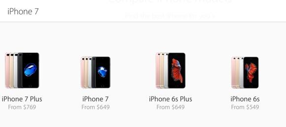iPhone7/7 Plus アメリカ 価格