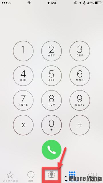 iPhoneの説明書 電話番号