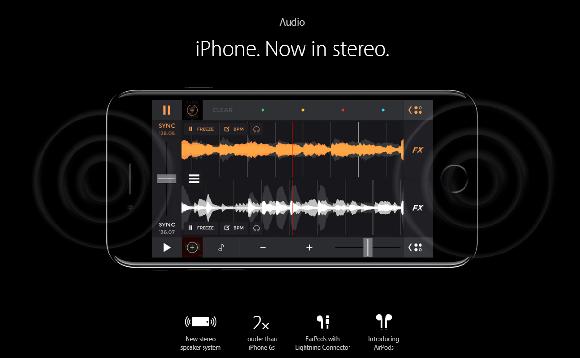 iPhone スピーカー ステレオ