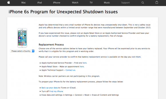 iphone6s 修理プログラム