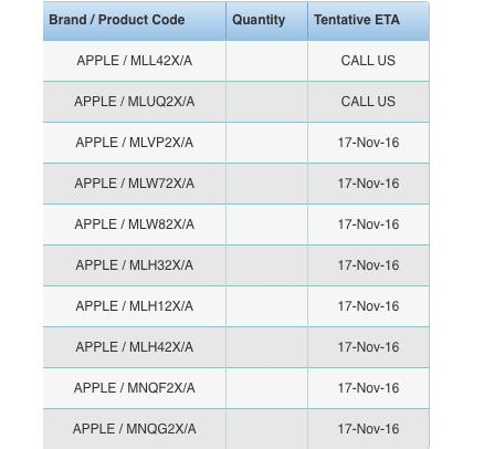 MacBook Pro 11月17日出荷開始