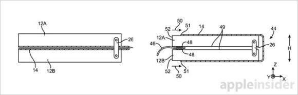 折りたたみ iPhone 特許