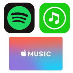 Spotify、Apple Music、LINE MUSIC